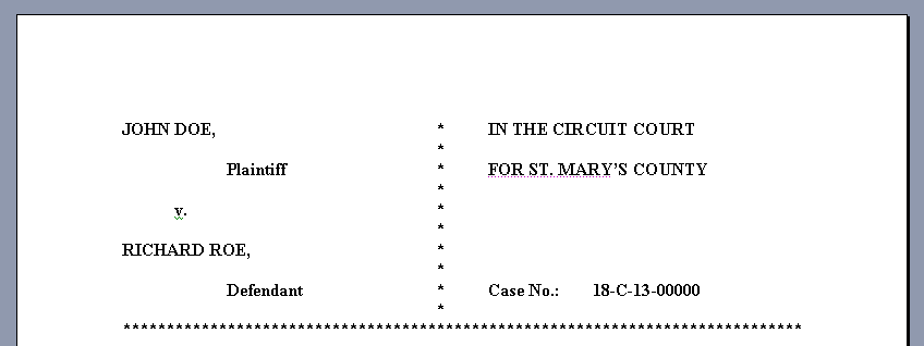 filing a motion in a maryland circuit court the maryland people s